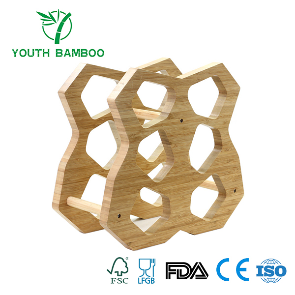 Bamboo 6 Slots Wire Rack
