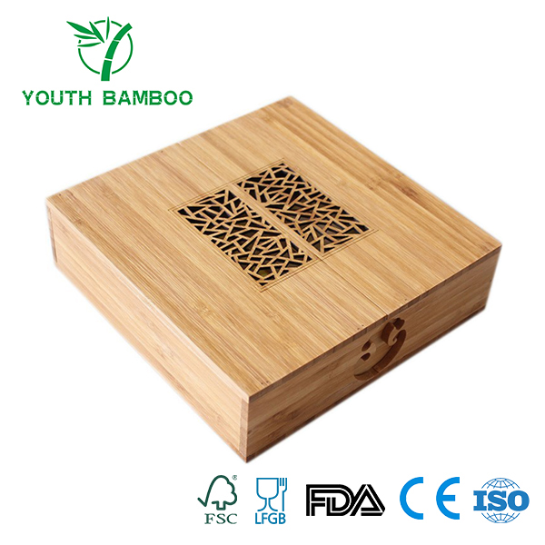 Bamboo Gift Container Box Customized Design