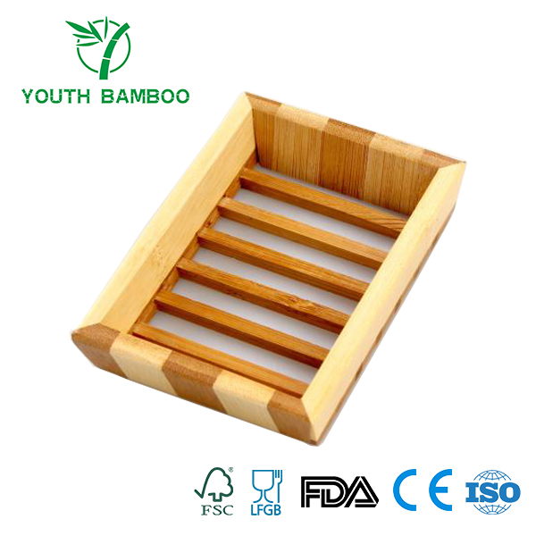 Bamboo Soap Dish Storage Holder