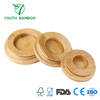 Round Bamboo Cup Lid Set