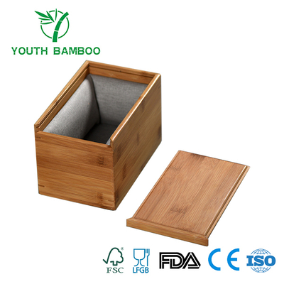 Bamboo Box Organizer With Sponge Pad