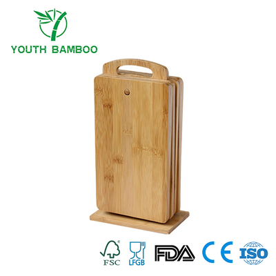 Bamboo Cutting Board Set With Holder